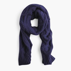 J. Crew Loopy stitch oversized cable-knit scarf